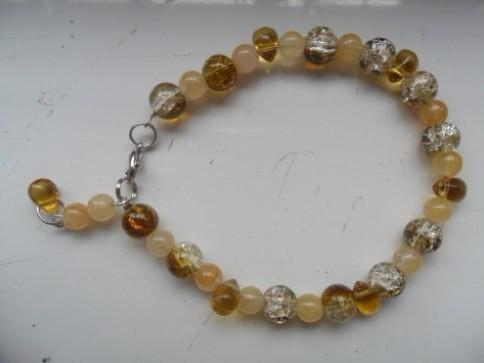 纯手工制作的各种玉石水晶手链,耳坠,腰链,独一无二款