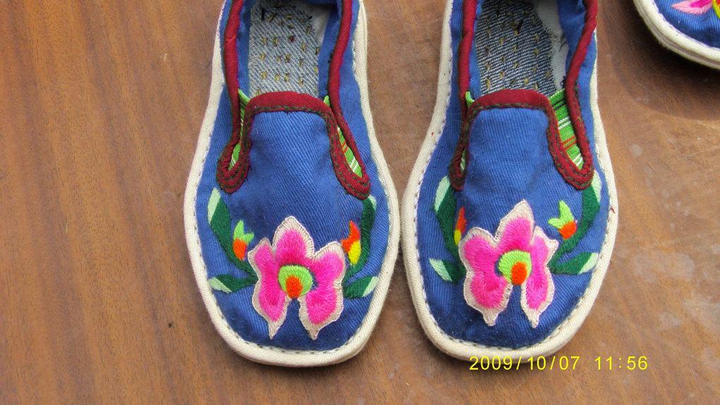 纯手工儿童绣花鞋