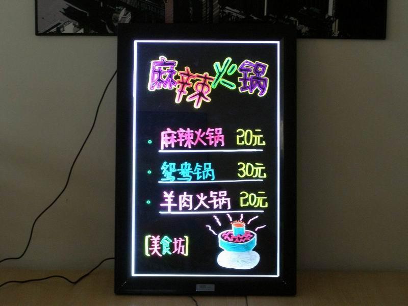 手写荧光板广告版 传统pop海报/x展架升级换代啦
