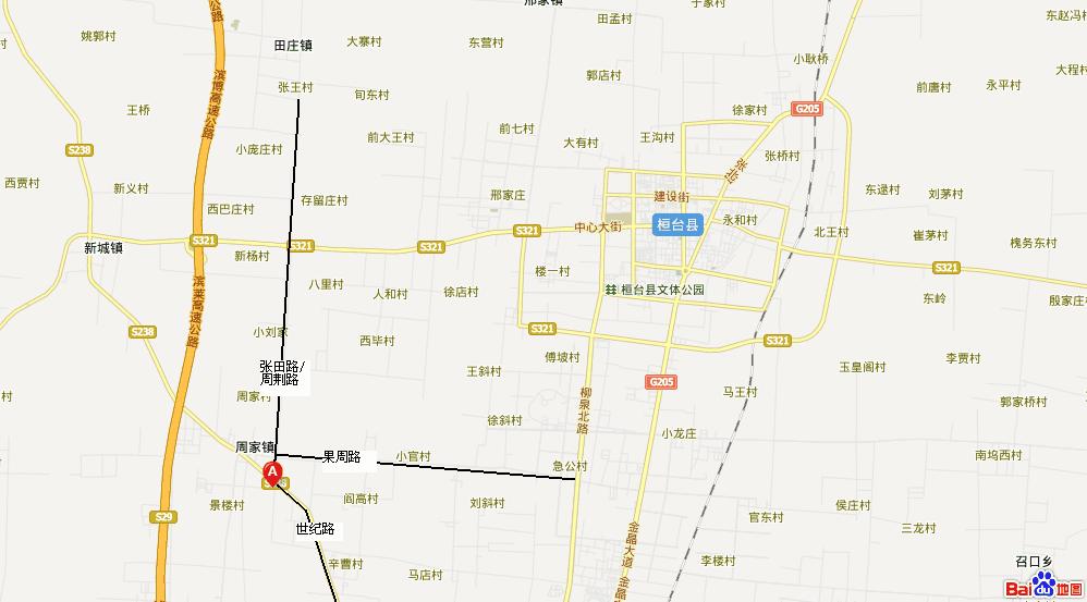 地图中的a点(淄博科普电气)西南400米[img]