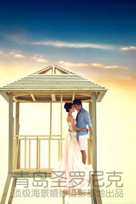 芳草摄影--独家顶级海景休闲婚纱摄影《青岛圣罗尼克》最新样片之