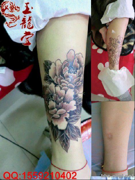 牡丹小腿部纹身.jpg
