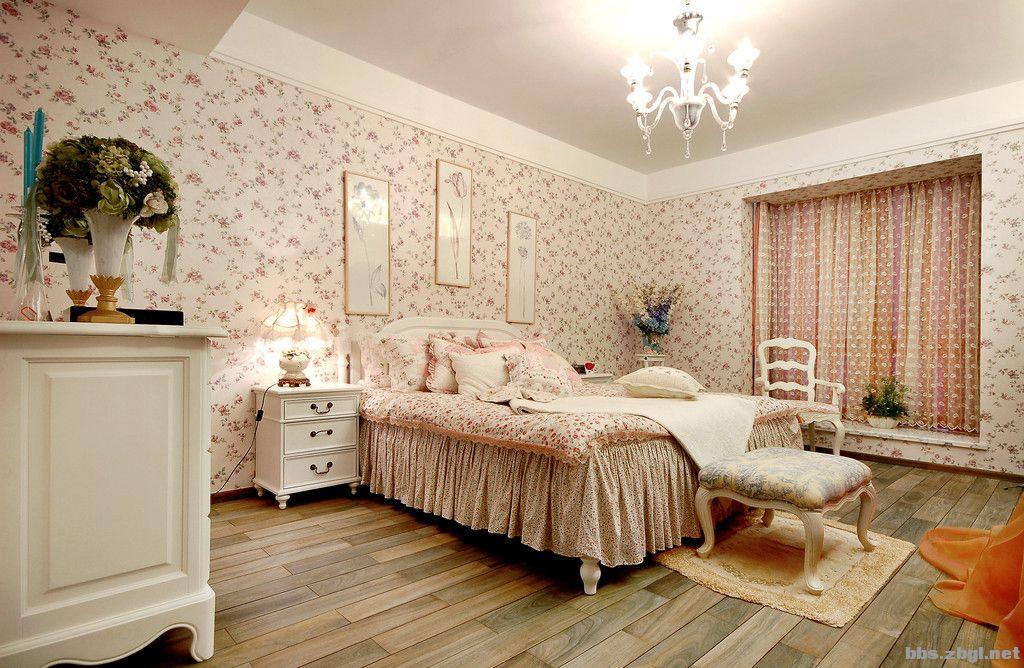 白色欧式田园卧室设计图片