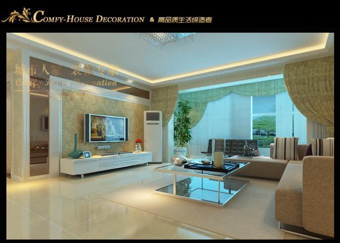 【淄博城市人家】橄榄城样板间装修案例|现代简约