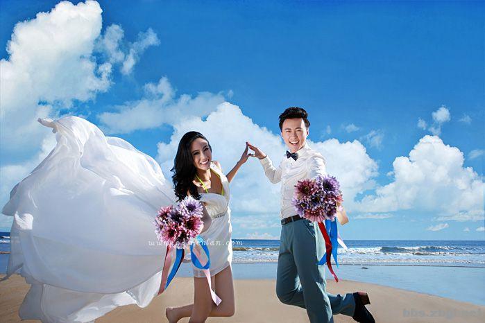 青岛婚纱摄影深澜7周年强烈推荐游艇航拍超值优惠
