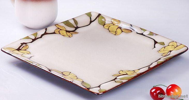 欧陆风情彩瓷餐盘,手工绘制,真的漂亮 一图片