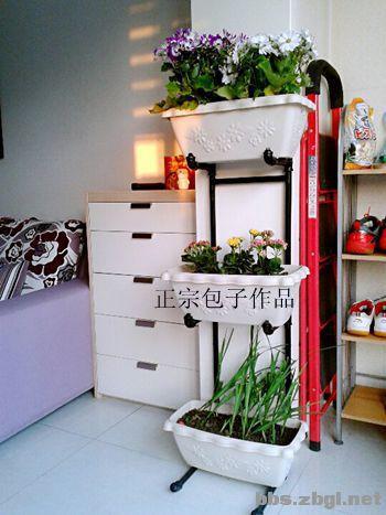自己设计制作的工业风格的花架,喜欢吗?