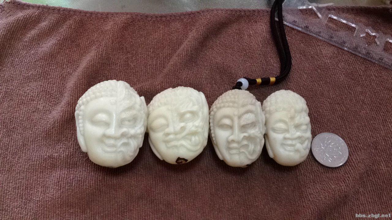 手工雕刻的象牙果刻件
