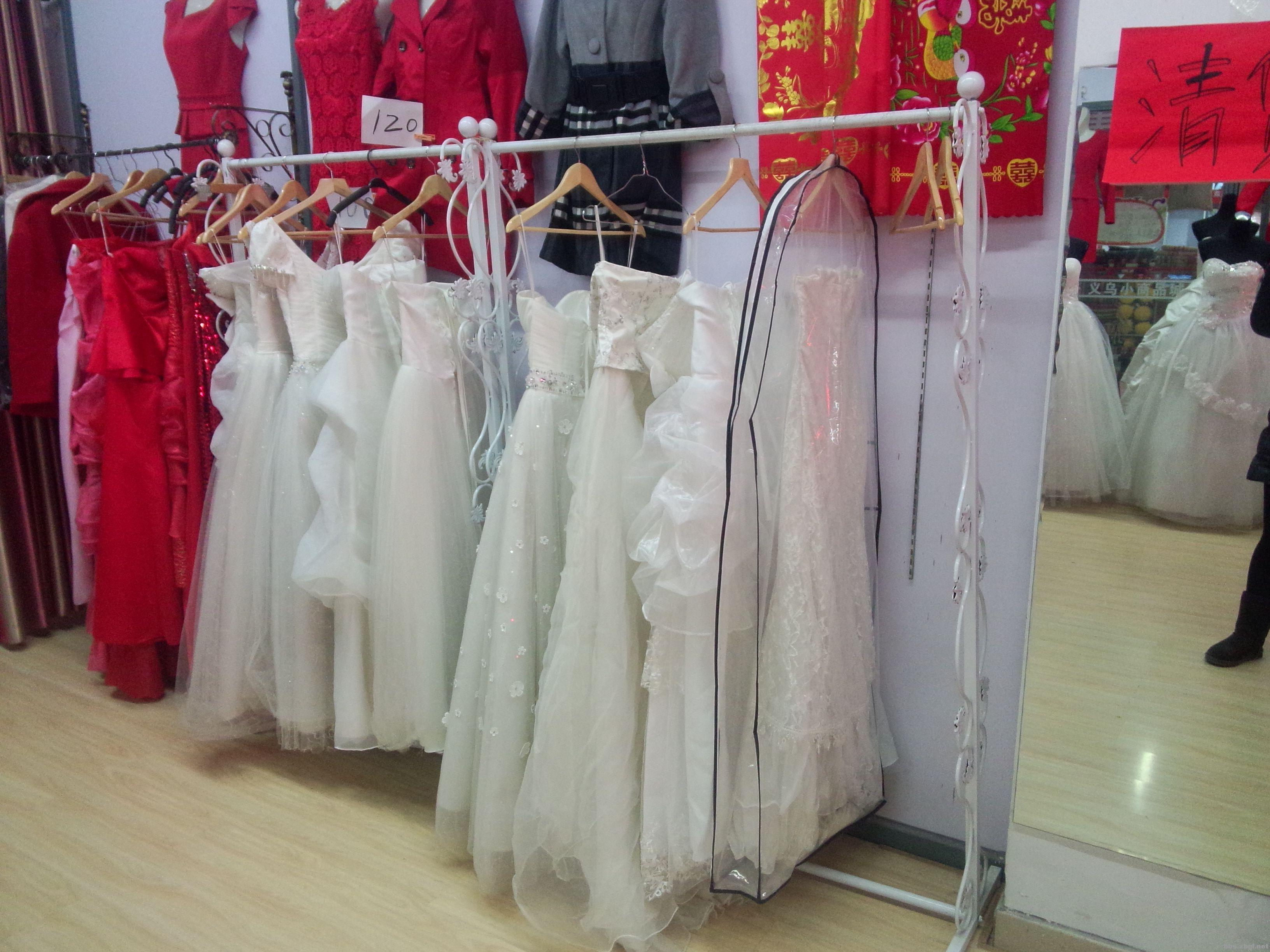 服装模特,婚纱架子处理