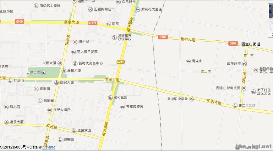 a淄博高新区中润大道299号地图山东省淄博市地图中润大道和上海路路口