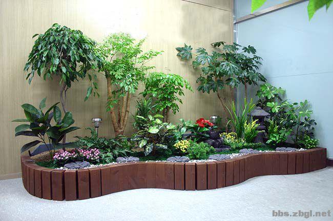 山水源室内绿化景观设计 室内生态盆景