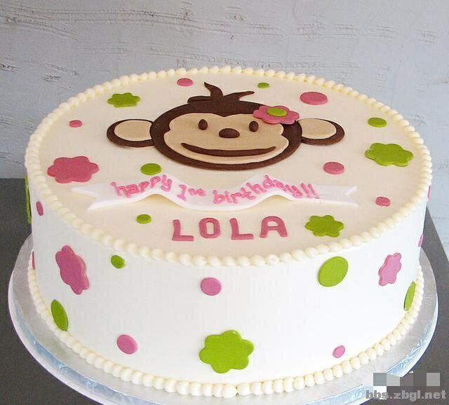 可爱的小猴子!美丽的翻糖蛋糕,新年新气象哟!