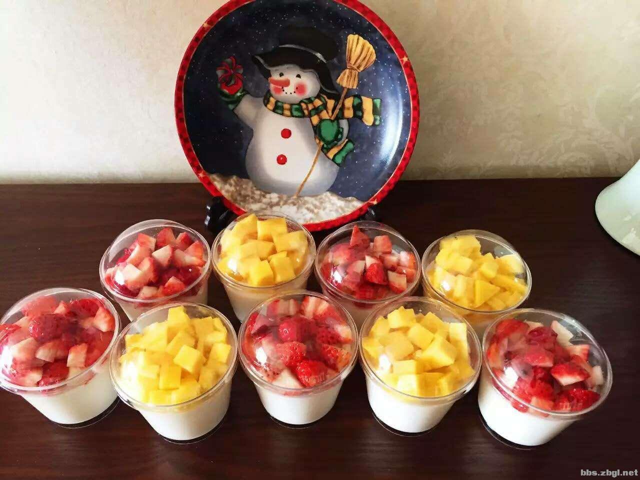 自制水果椰奶冻