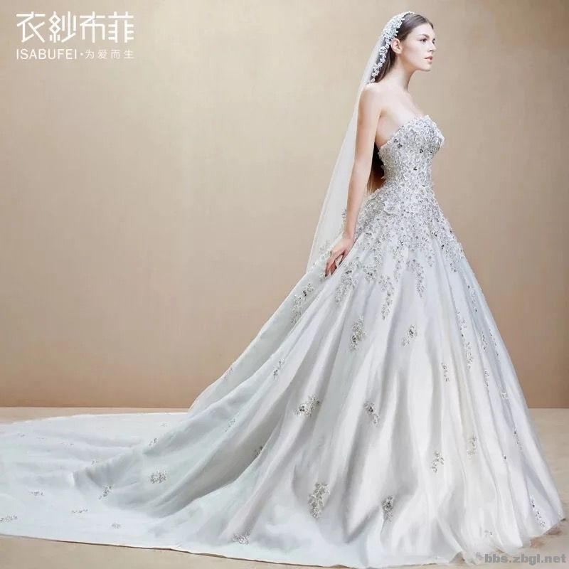 婚纱出门纱图片1