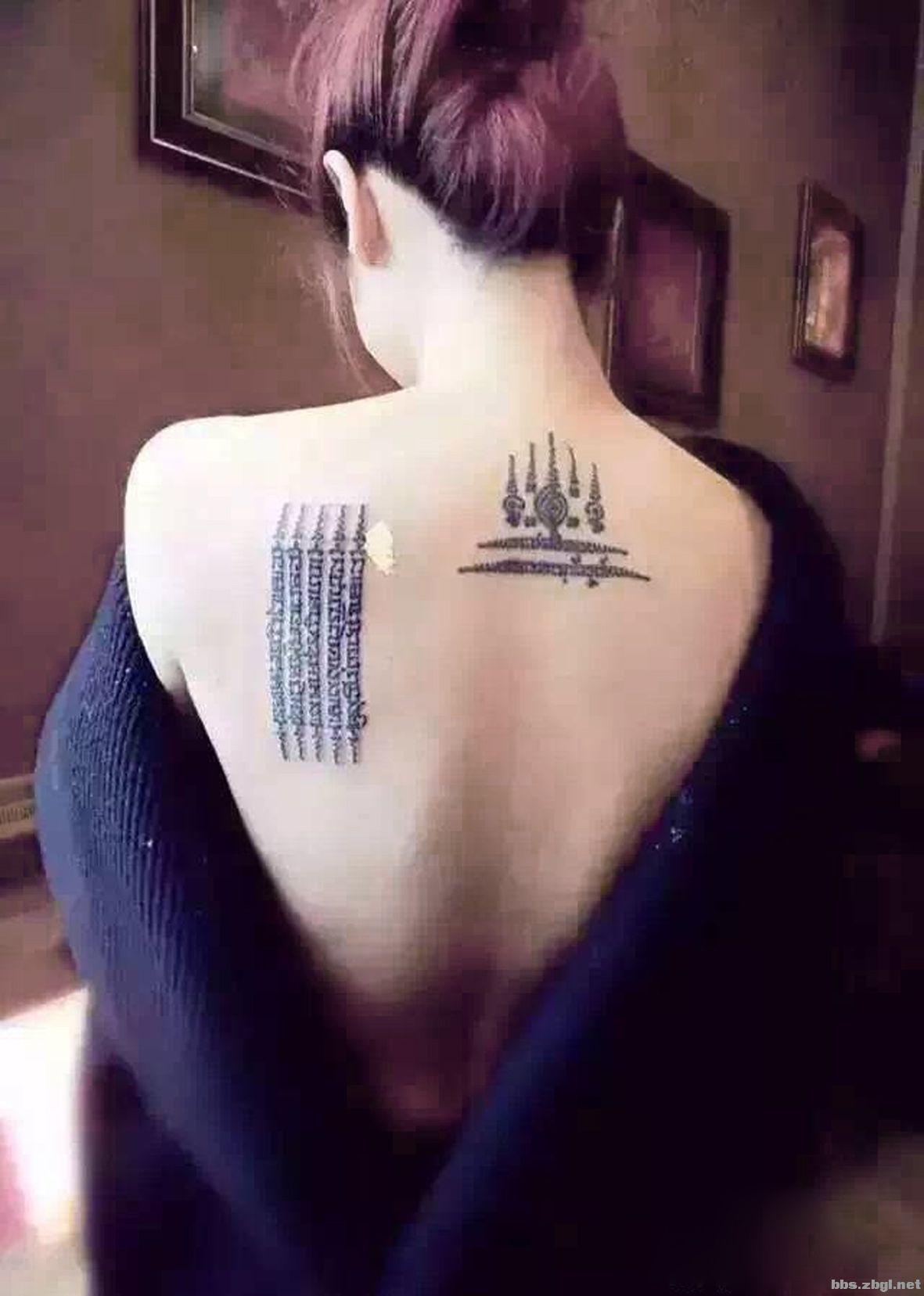 泰国的五条经文刺符纹身太美了