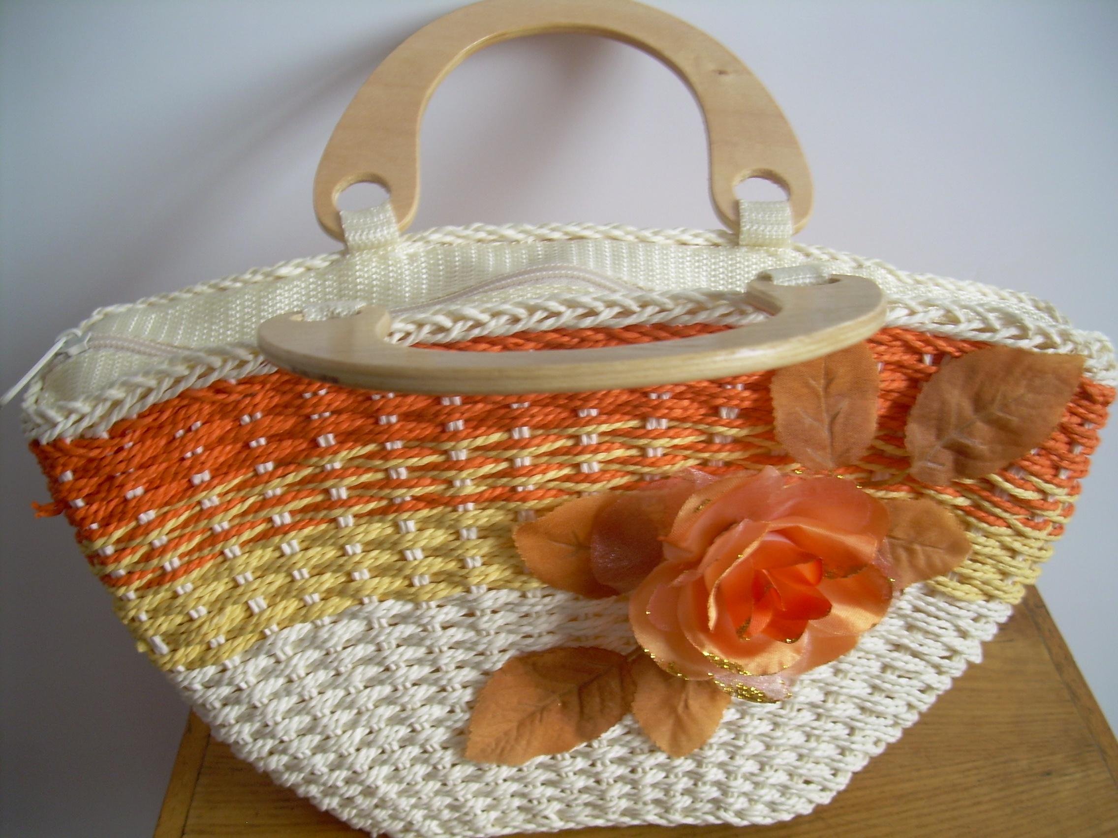 手工草编织包