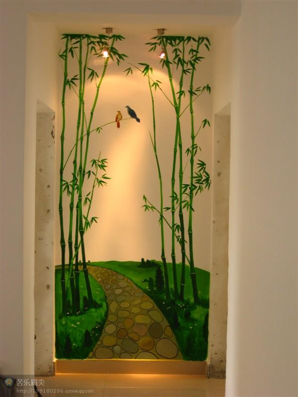 手绘墙——交通局宿舍 竹林小路