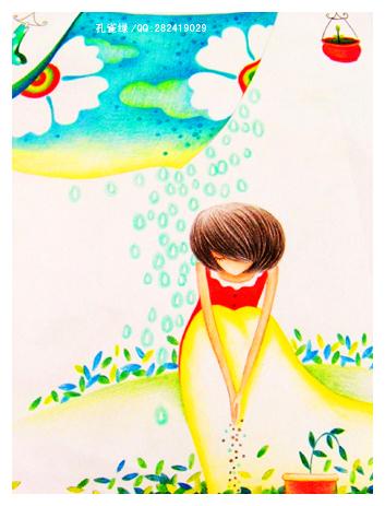 各民族儿童彩色简笔画