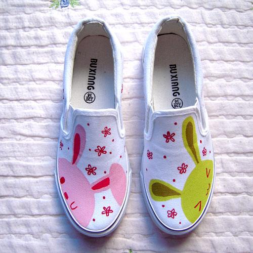 手绘鞋 童鞋 情侣鞋