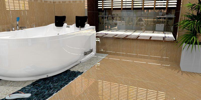 看看我设计的影视墙,卫生间瓷砖效果图